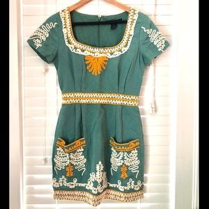 French Connection embroidered mini dress